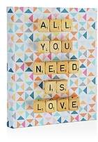 DENY Designs Deny All You Need is Love Canvas, 8 x 10