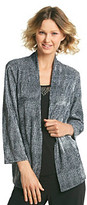 Notations All Over Print Embellished Neckline Layered Look Top