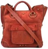 Jerome Dreyfuss Jacky tote - women - Cotton/Lamb Skin/Suede - One Size