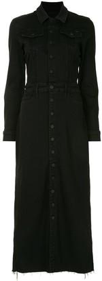 Mother Front-Slit Midi Shirt Dress