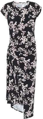 Paco Rabanne Floral stretch-jersey midi dress