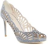 Giorgio Armani Crystal Embellished Peep Toe Pump