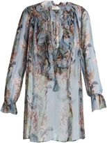 Zimmermann Winsome floral-print silk-georgette ruffled blouse