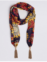 M&S Collection Printed Scarf Necklace