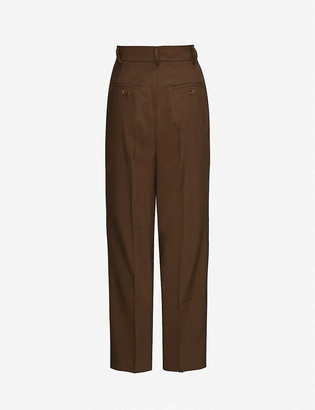 Frankie Shop Bea high-rise wide woven trousers