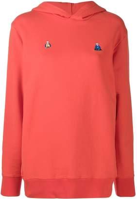 Kirin embroidered detail hoodie