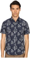 Jack Spade Clift Short Sleeve Point Collar Bandana