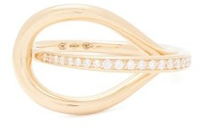 Charlotte Chesnais Fine Jewellery - Petit Looping Diamond & 18kt Gold Ring - Gold