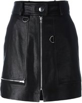 Isabel Marant 'Lynne' mini skirt - women - Lamb Skin/Acetate/Viscose - 42