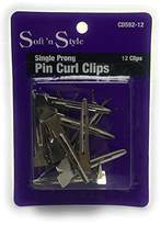N. Soft 'N Style Single Prong Pin Curl Hair Clips, 12 Clips