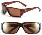 Maui Jim Men's 'Wassup - Polarizedplus2' 61Mm Polarized Sunglasses - Gloss Black/ Maui Rose