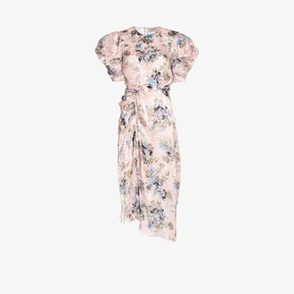 Preen by Thornton Bregazzi Pippa floral devore satin midi dress
