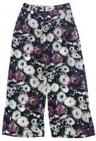 BCBGMAXAZRIA Black Floral Print Wide Leg Pants
