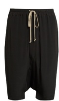Rick Owens Dropped-crotch Crepe Shorts