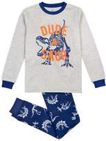 Petit Lem Two-Piece Dude-A-Saur Long Sleeve Pyjama Set