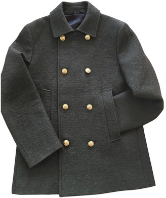 Maison Margiela Green Wool Coats