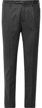 Incotex Urban Traveller Charcoal Slim-Fit Tech Wool-Blend Flannel Trousers
