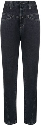 Closed High-Waisted Tapered Jeans