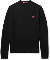 McQ Slim-Fit Appliquéd Wool and Cashmere-Blend Sweater