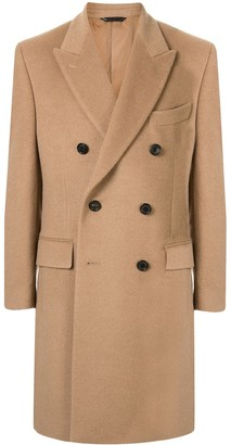 Gieves & Hawkes Double-Breasted Mid-Length Coat