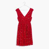 Madewell Magnolia Tie-Back Dress in Rosebud Scatter