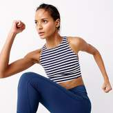 J.Crew New Balance® for performance crop top in stripe