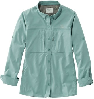 L.L. Bean Women's Tropicwear Pro Stretch Shirt, Long-Sleeve