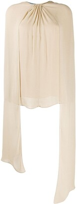 Prada Twisted-Detail Draped Blouse