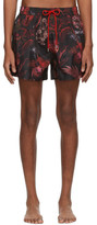 Paul Smith Red Beetle Botanical Swim Shorts