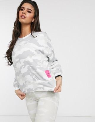 Calvin Klein camo print logo pullover sweatshirt