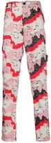 Stone Island straight leg abstract print trousers