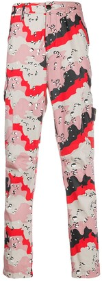 Stone Island Straight Leg Abstract Print Trousers
