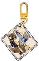 Louis Vuitton Damier Azur Illustre Bag Charm and Key Holder