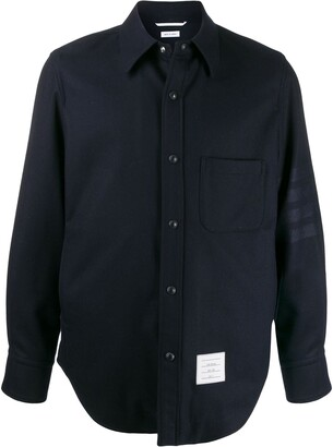Thom Browne Flannel Snap Front Shirt Jacket
