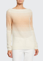 Loro Piana Cashmere-Silk Degrade Boat-Neck Sweater