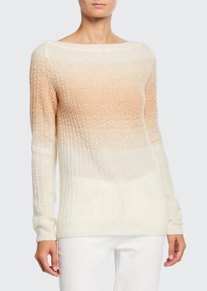 Loro Piana Cashmere-Silk Degrade Boat-Neck Sweater