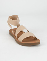 Soda Sunglasses Elastic Banded Ankle Strap Womens Sandals