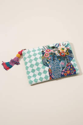 Anthropologie Elephant Embellished Pouch