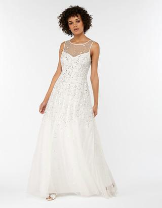 Under Armour Victoria Embellished Maxi Wedding Dress Ivory