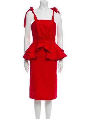 Johanna Ortiz Sleeveless Cocktail Dress Red