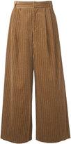 Muveil cable corduroy wide leg trousers - women - Cotton - 36