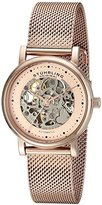 Stuhrling Original Women's 832L.04 Castorra Analog Display Automatic Self Wind Rose Gold Watch
