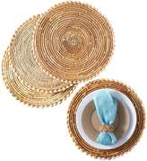 Twos Company Pandan and Seashell Placemats (Set of 4)
