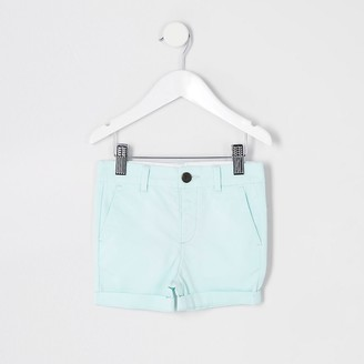 River Island Mini boys light green chino shorts