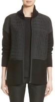 Lafayette 148 New York Women's Quilted Zip Front Cardigan