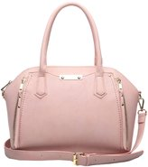 Aitbags PU Leather Fashion Womens Handbags and Purses Large Tote with Shoulder Strap Pink
