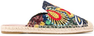 Kurt Geiger Kira crochet embroidered mules