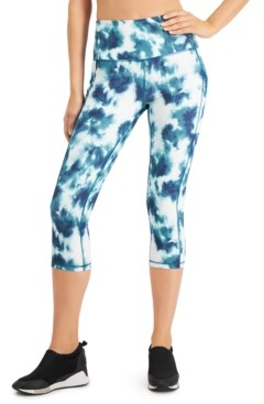 Ideology Tie-Dyed High-Waist Cropped Leggings, Created for Macy's