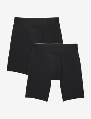Tommy John Cotton Basics Boxer Brief 2 Pack, Black