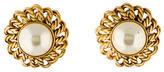 Chanel Pearl Clip On Earrings